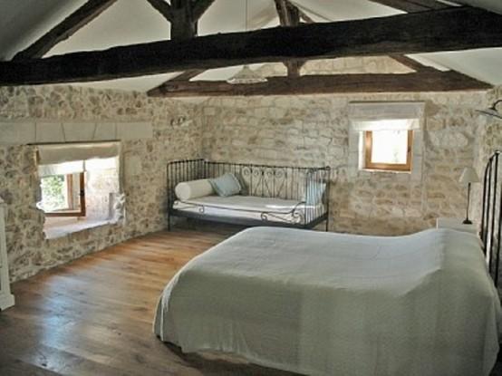 La chambre  coucher style grange en 16 exemples