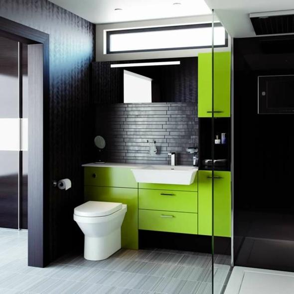 Dcoration salle de bain en vert  originale et