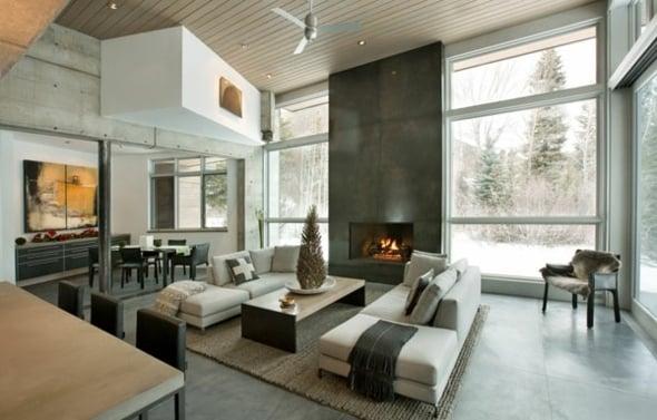 25 Ides Design Pour La Dco Salon Chaleureux En Hiver