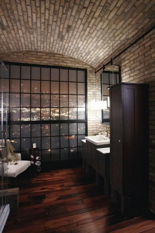 la salle de bains en brique rouge en 20 exemples
