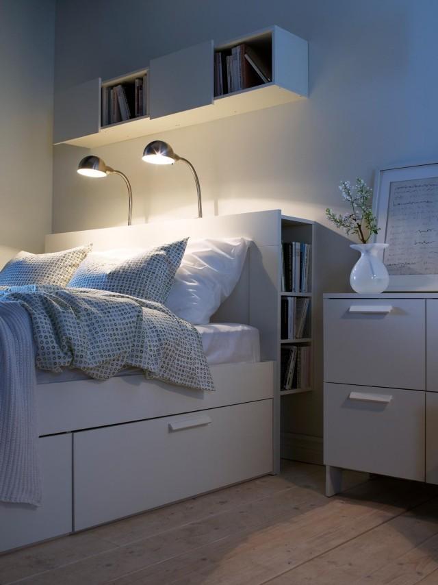 Tte de lit avec rangement fonctionnel et esthtique