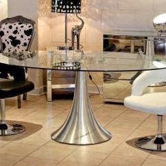 Noir Dining Chairs Cheap Foldable Table Salle à Manger 24 Photos: Invitez Verre Dans Espace!