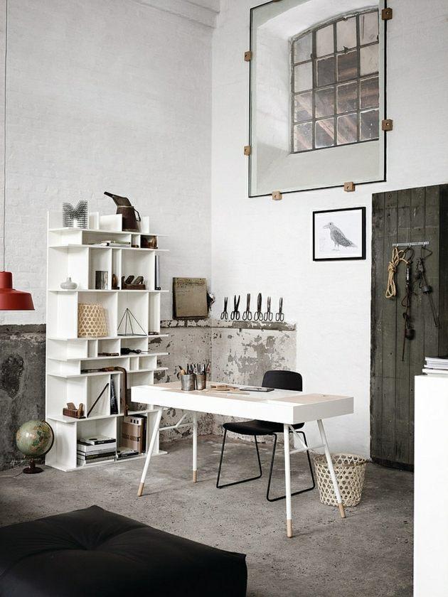 Bureau maison de style industriel et moderne