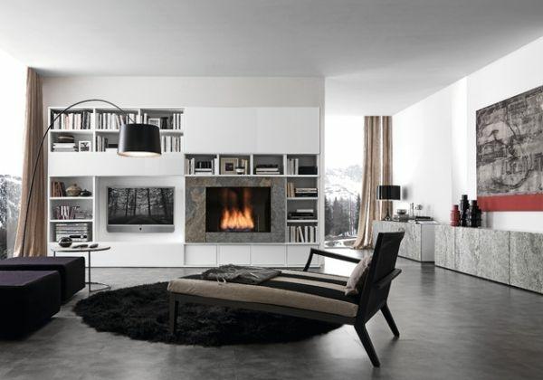 20 ides modernes pour la chemine design minimaliste