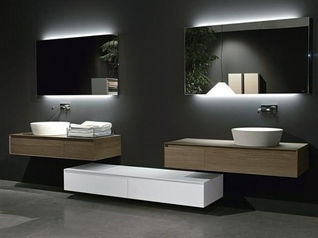 20 ides pour un miroir salle de bain design moderne