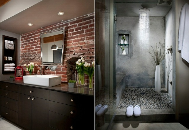 Salle de bains style industriel  des exemples qui saiment