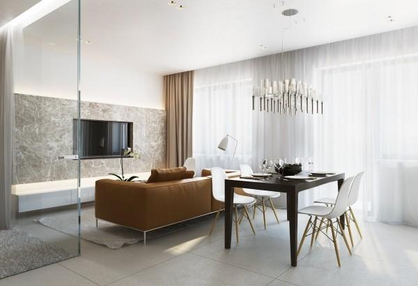 Appartements dun intrieur design moderne et chaleureux