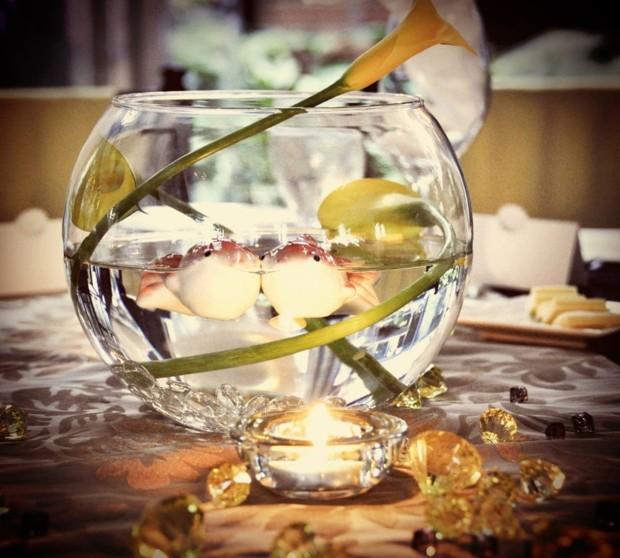 La dcoration table mariage  des fleurs et du romantisme