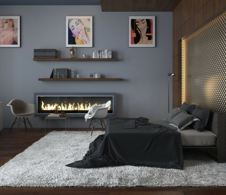 Ide couleur chambre  la chambre  coucher en gris