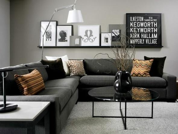 20 ides modernes pour la dco salon gris