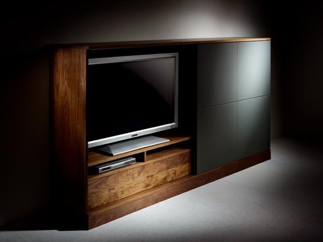 meuble tv design en bois tres simple et