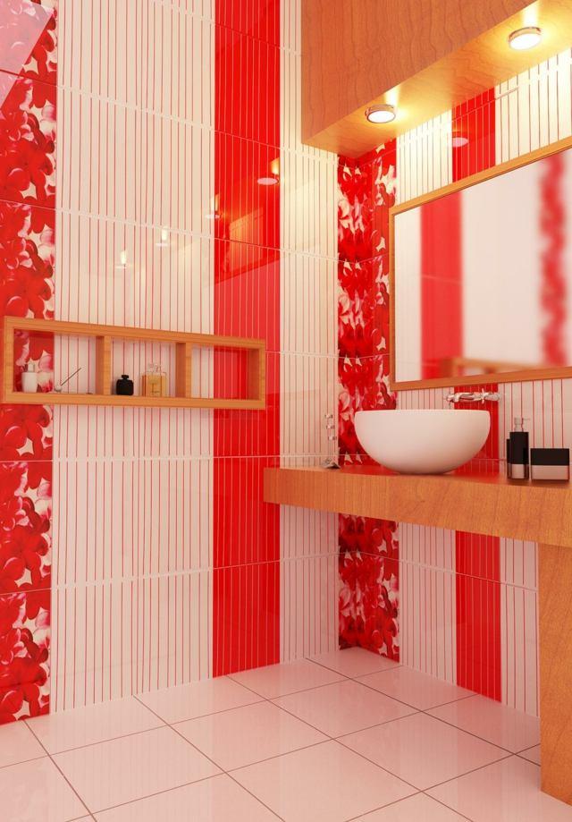 Salle de bain colore  des exemples modernes