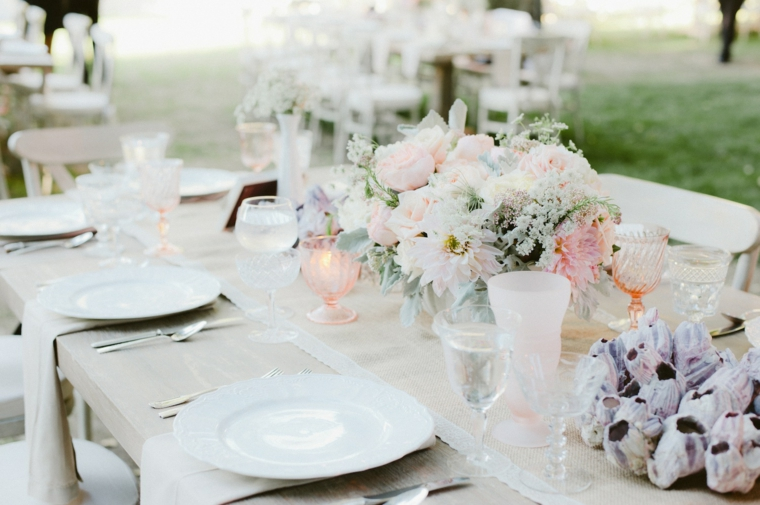 decoration table mariage blanc