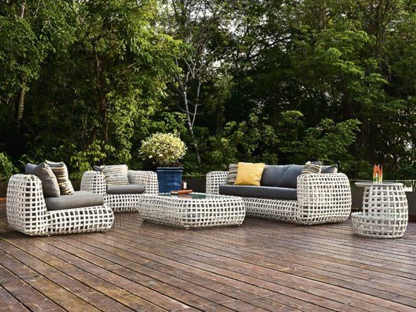 meubles de jardin en rotin toujours