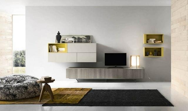 Le meuble mural salon  quelques exemples par Alf Group