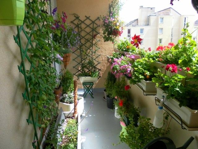 Dcoration balcon En attendant le printemps