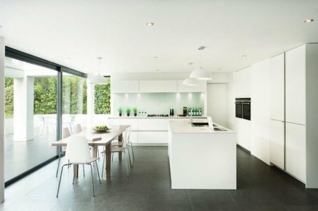 idees de decoration cuisine monochrome