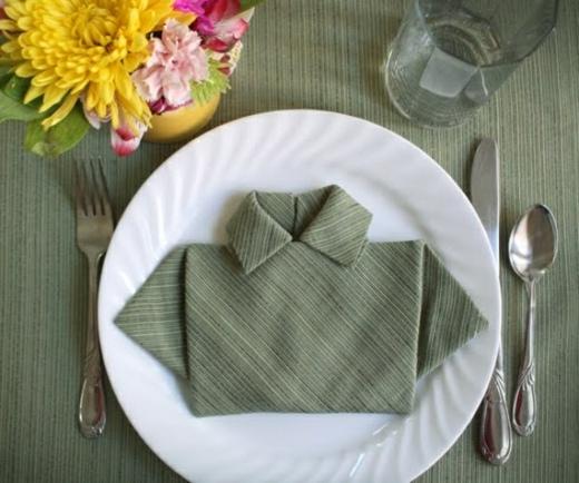 Pliage de serviettes de table pour Pques 20 ides