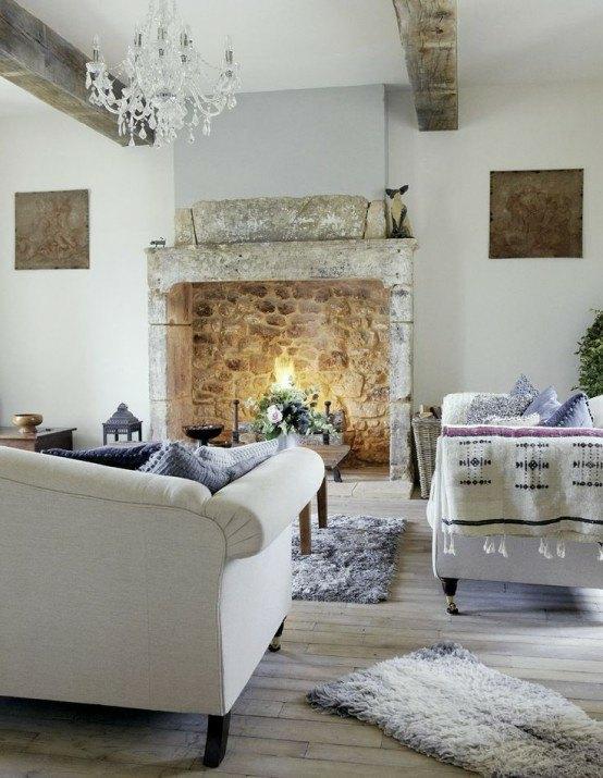 Salon Design En Style Rustique En 24 Ides