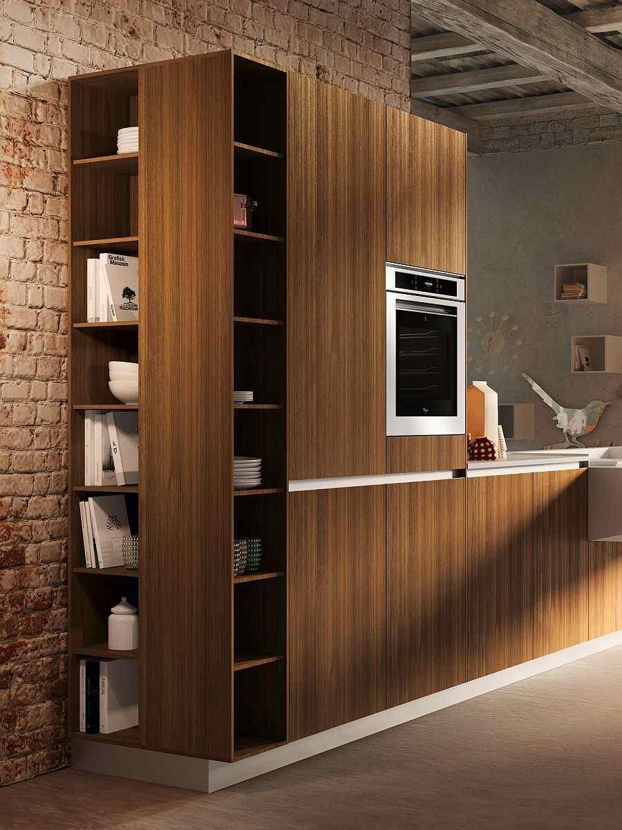 Cuisine ouverte sur salon trs design de Snaidero