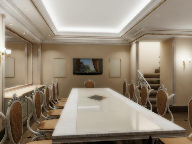 Faux plafond moderne dans la chambre  coucher et le salon