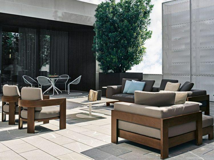Le canap de jardin embellit votre espace extrieur