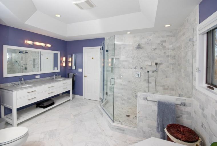 Plafond salle de bain  peinture et style en 40 ides