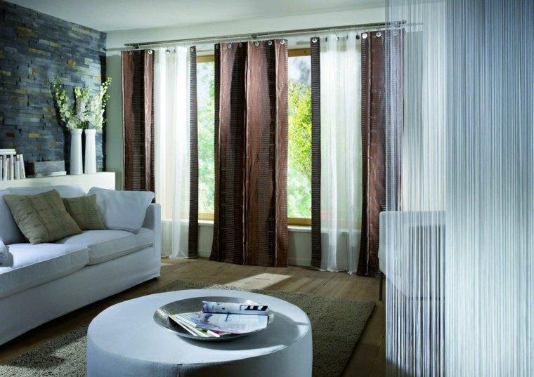 rideaux modernes salon donnez un cote