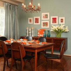Tall Round Kitchen Table And Chairs Diy Chair Covers No Sew Associer Les Couleurs Dans La Salle à Manger