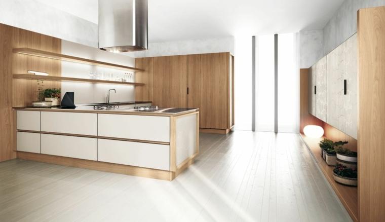 la cuisine blanche et bois dans tous