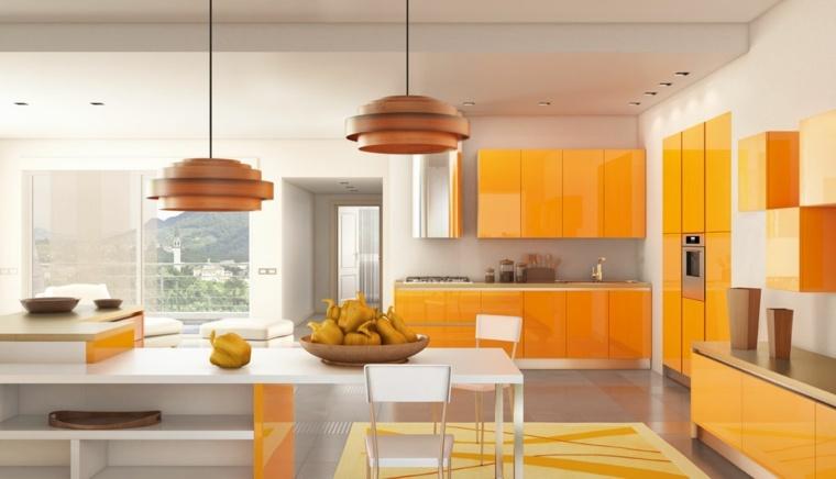 Cuisine orange  la couleur tonifiante et vive