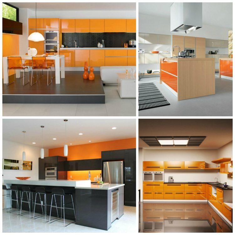 Cuisine Orange Ides Et Astuces De Dco