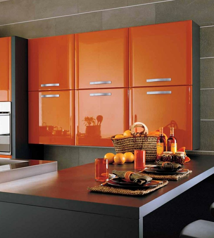 Kitchens Painted Orange