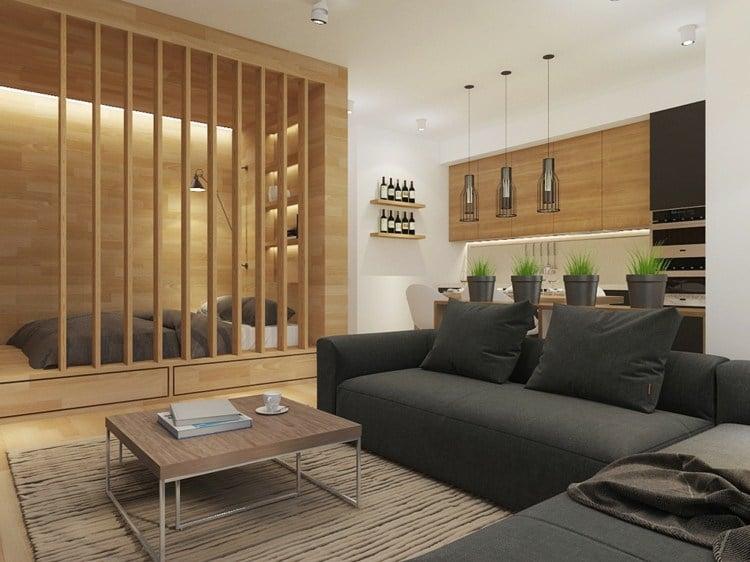 beautiful wooden sofa designs second hand beds déco appartement petit espace: idées design et modernes