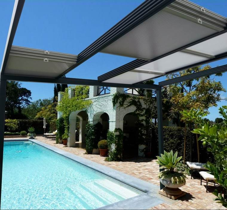 pergola terrasse moderne design piscine