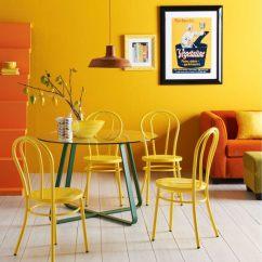 Noir Dining Chairs Walking Stick Seat Stool Chair Associer Les Couleurs Dans La Salle à Manger