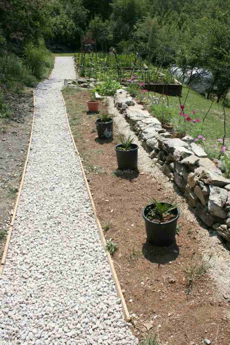 Gravier blanc pour le jardin astuces et ides dco