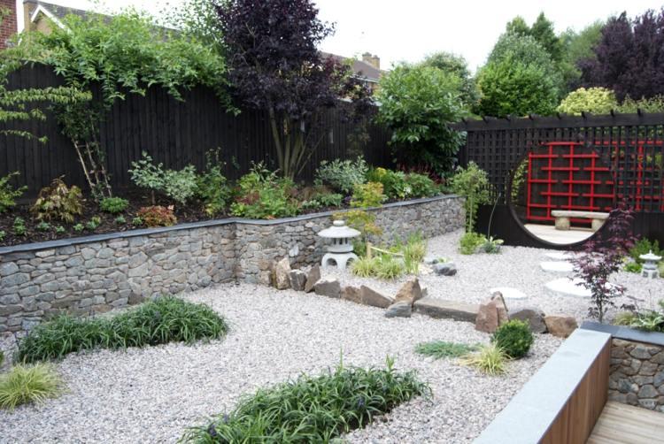 Massif Avec Cailloux Blanc. Affordable Crer Un Jardin Sur Gravier ...