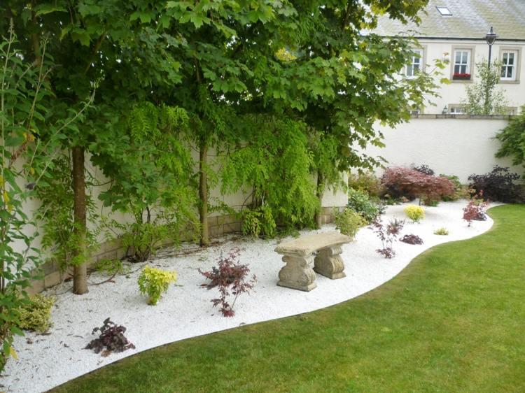 dcoration jardin avec cailloux