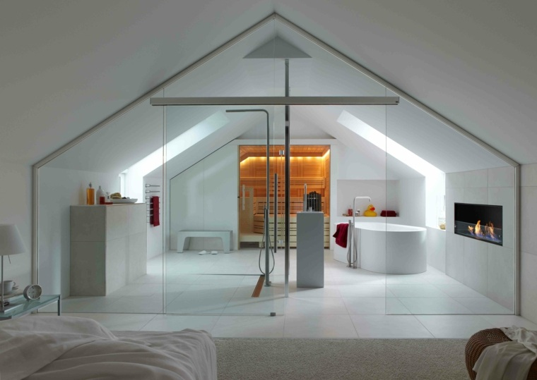 Chambre avec salle de bain  fusion despaces harmonieuse