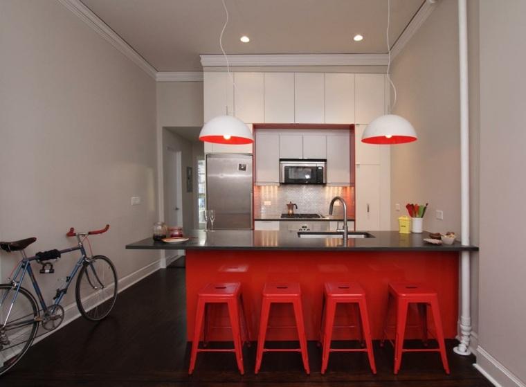 Ide couleur cuisine  la cuisine rouge et grise