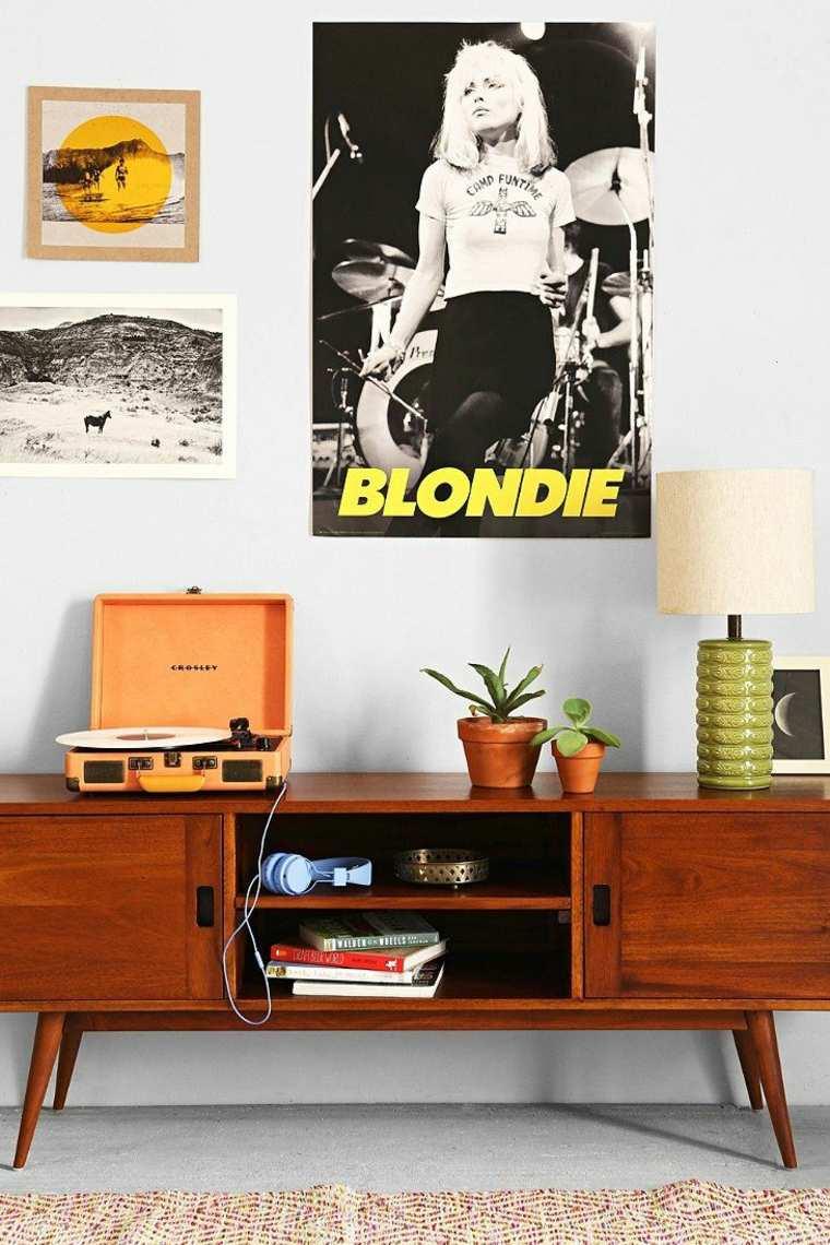 Dco mur salon  50 ides rtro vintage et artistiques