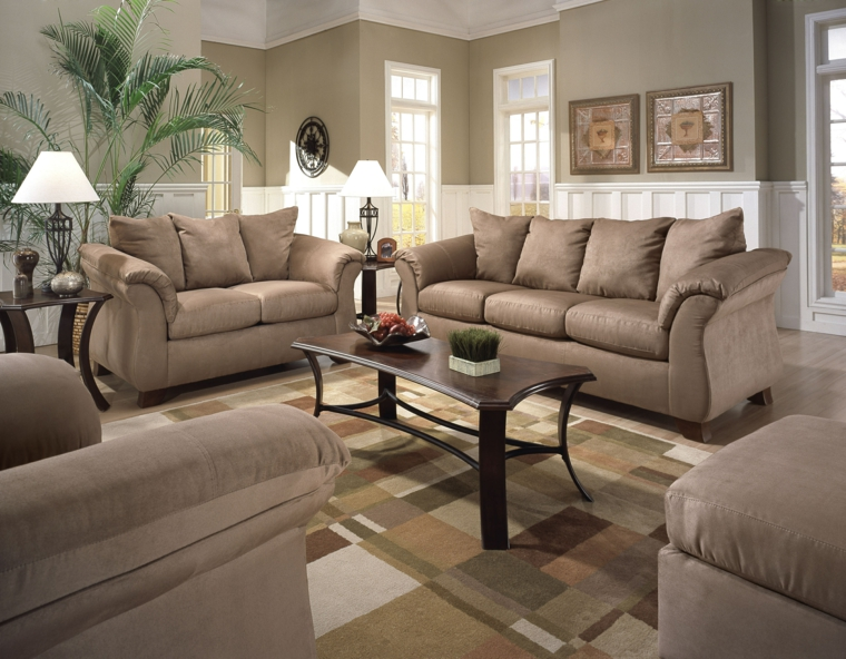 indian style sofa set designs high density foam for cushions india déco salon gris et taupe pour un intérieur raffiné