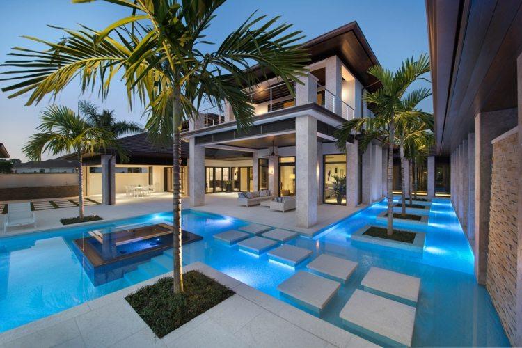 Terrasse piscine moderne 99 ides amnagement et dco