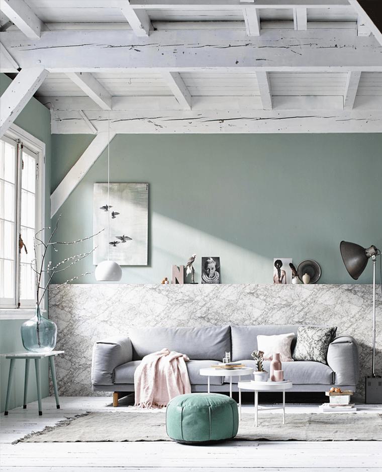 Repeindre salon  ides de couleurs pastel