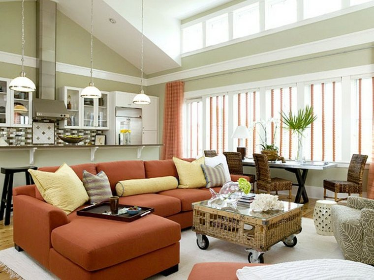 furniture placement in small living room with corner fireplace country themed colors repeindre salon : idées de couleurs pastel