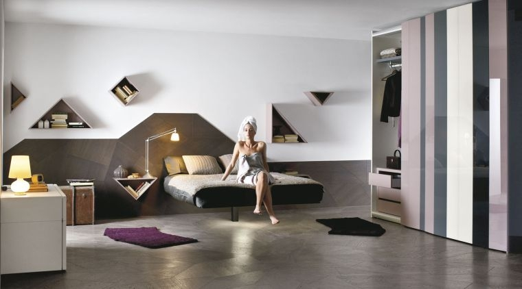 Lit moderne  25 exemples de lits flottants