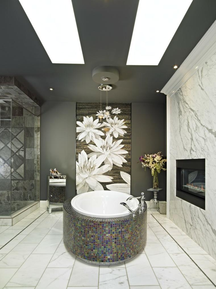 Salle de bain noire marron et grise  comment lamnager