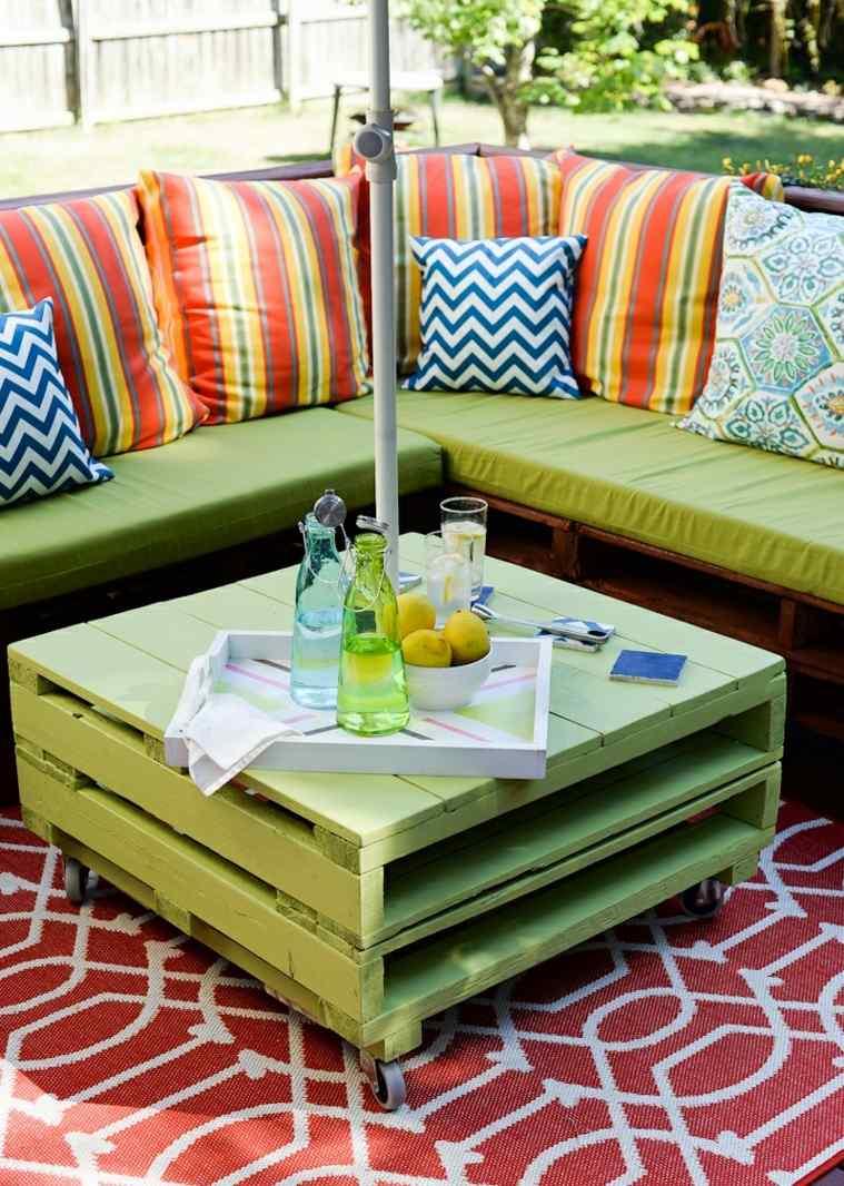 meuble en palette moderne elegant et