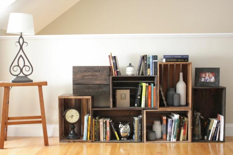 Dcoration cologique avec une ancienne caisse bois